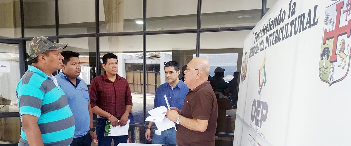 Organizaciones indígenas del municipio de Urubichá reciben resolución de aprobación de firmas para el referéndum de autonomía indígena