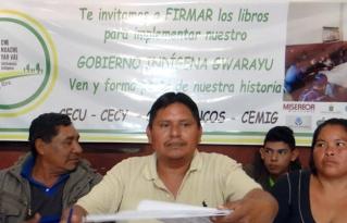 Se hizo apertura de libros de firmas para referendo de conversión de autonomía municipal a autonomía indígena Guaraya en Urubichá