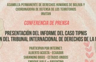 Informe del TIPNIS es presentado en Conferencia de Prensa