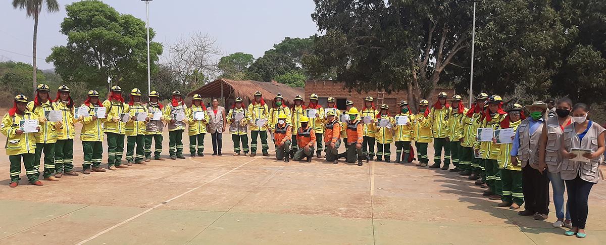 La Fundación SAR de San Ignacio de Velasco y CIPCA Santa Cruz certifican a 100 bomberos comunales