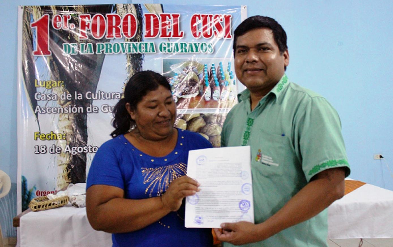 Asociaciones de mujeres indígenas guarayas piden una ley de protección y conservación del cusi