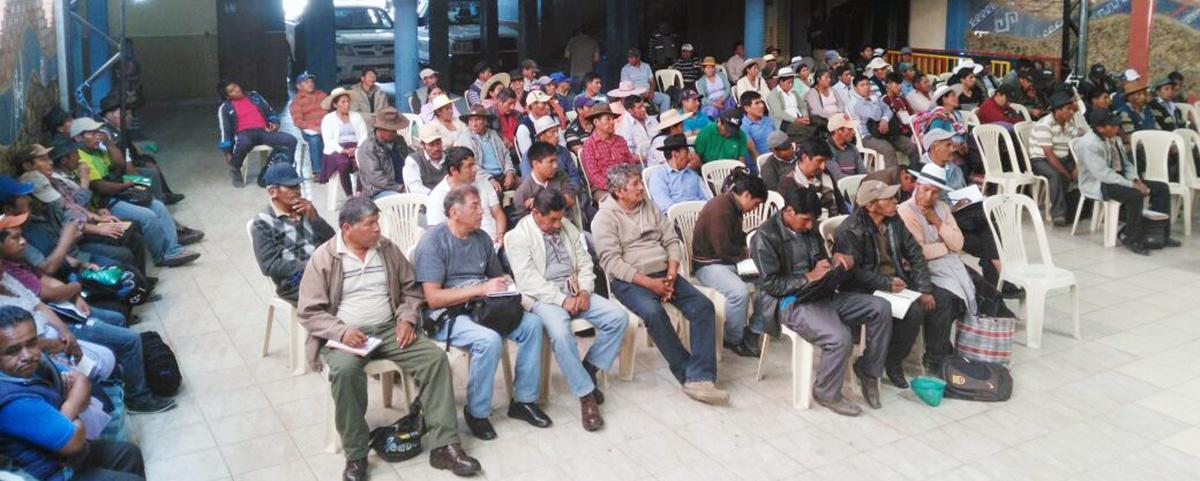 Organizaciones campesinas de Cochabamba desarrollaron Cumbre Productiva