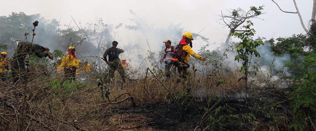 En Riberalta bomberos junto a productores indígenas y campesinos se capacitan en prevención de incendios