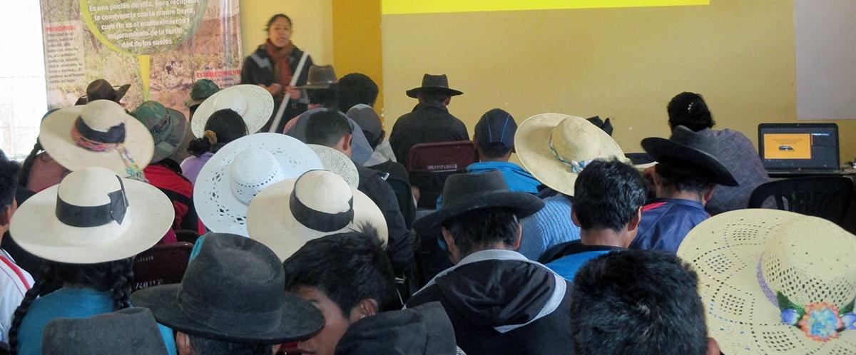 En Torotoro analizan la situación de la agricultura sostenible con enfoque agroecológico y turismo comunitario