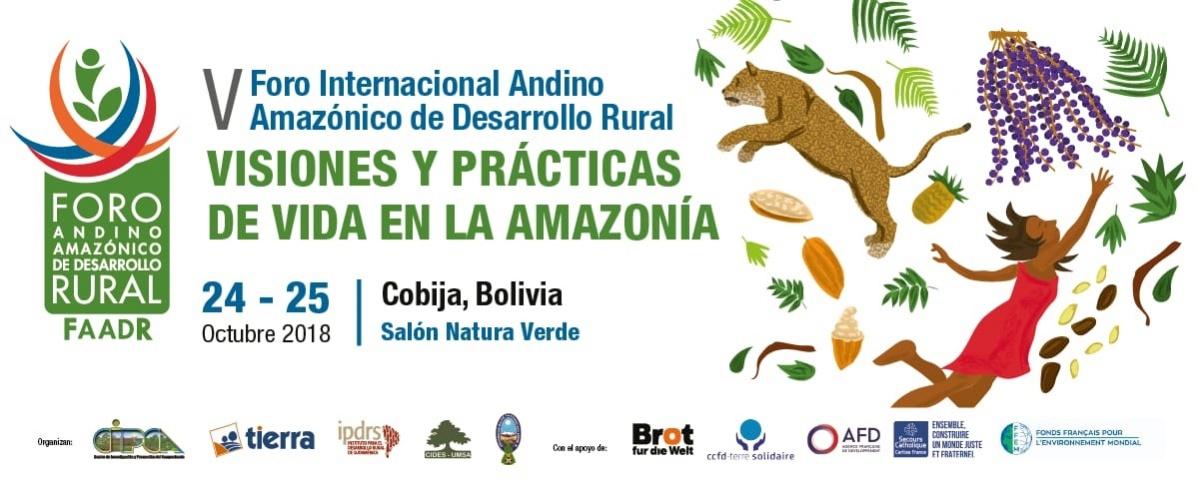 Transmisión del V Foro Andino Amazónico de Desarrollo Rural