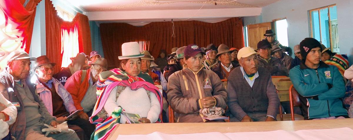 La seguridad alimentaria preocupa a las autoridades de educación de San Pedro de Totora