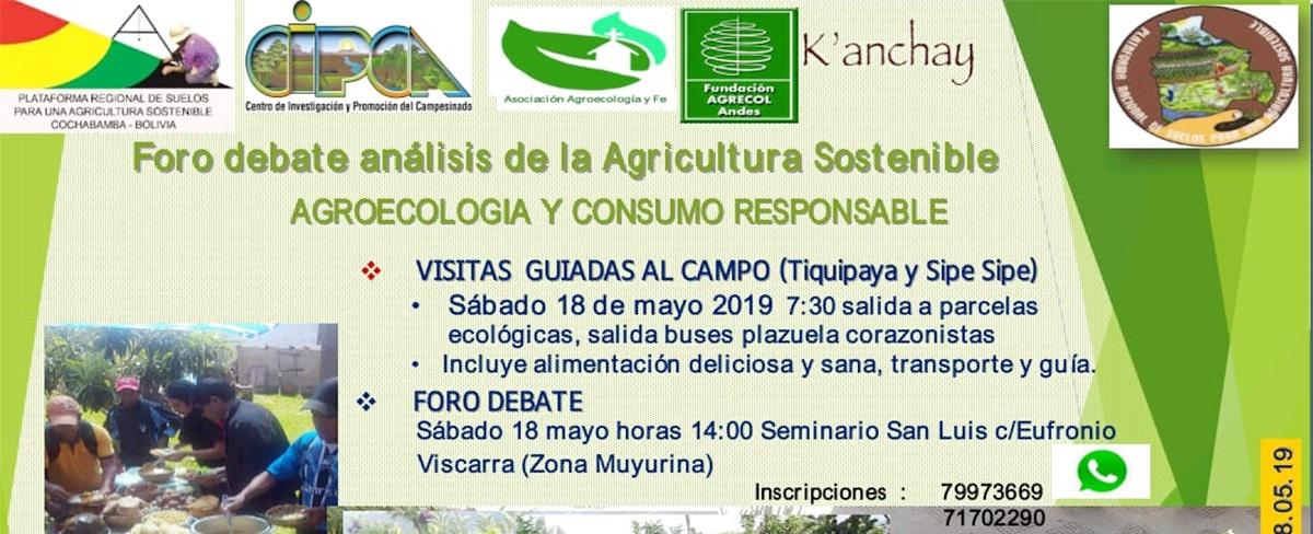 En Cochabamba productores y consumidores debatirán sobre agricultura sostenible con enfoque agroecológico y consumo responsable