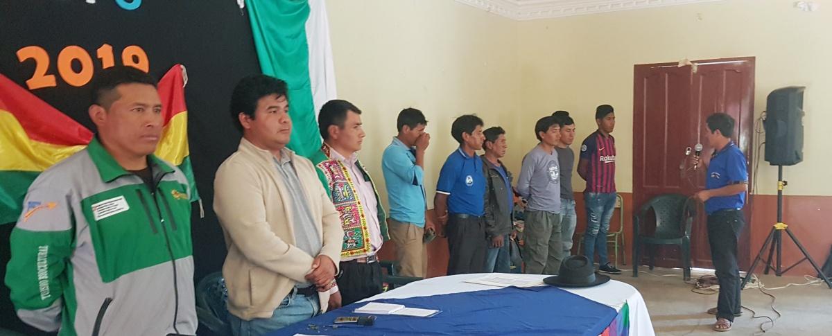 Centrales campesinas de Torotoro posesionan a Control Social del municipio