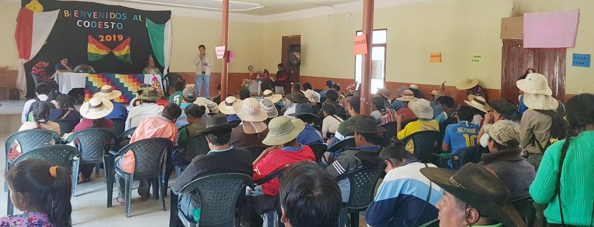 Organizaciones sociales de Torotoro participan en la Cumbre Municipal POA 2020