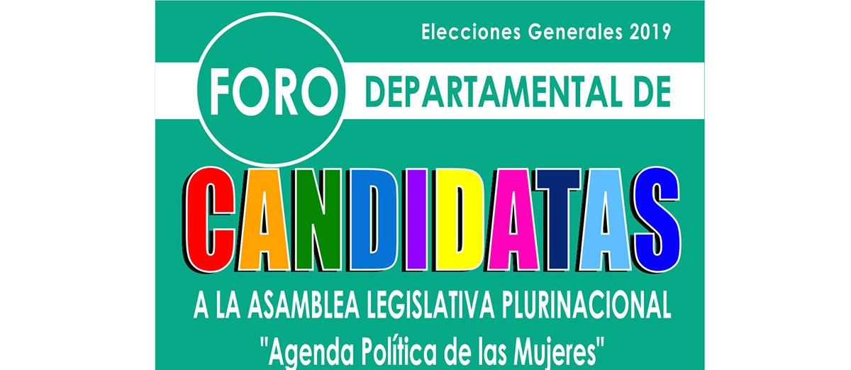 En La Paz realizarán foro departamental de candidatas a la Asamblea Legislativa Plurinacional