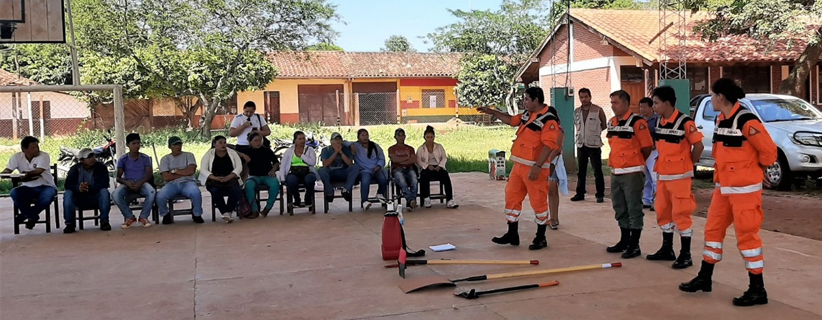 Comunidades indígenas chiquitanas de San Ignacio de Velasco se capacitaron en contención de incendios forestales