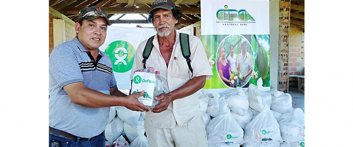 Familias campesinas del municipio de San Javier en Beni recibieron ayuda humanitaria