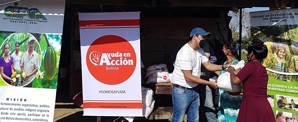 Familias vulnerables de Trinidad y San Ignacio de Mojos del Beni reciben ayuda humanitaria