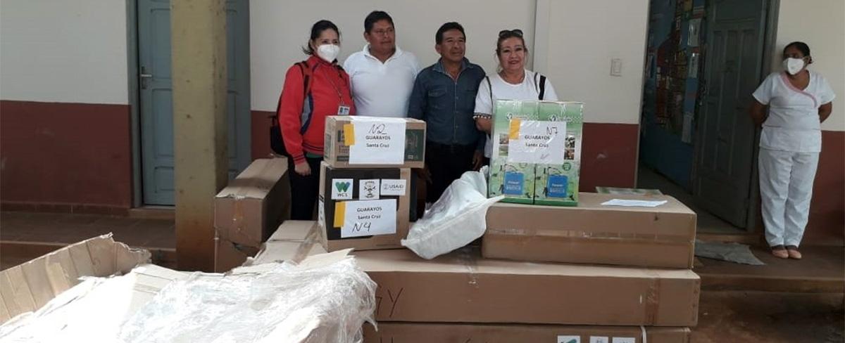 Centro de Salud del municipio de Urubichá recibe ayuda humanitaria para enfrentar la pandemia por Covid-19
