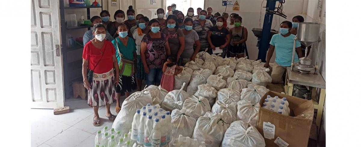 Familias indígenas guarayas reciben ayuda alimentaria e implementos de bioseguridad del CIPCA Santa Cruz
