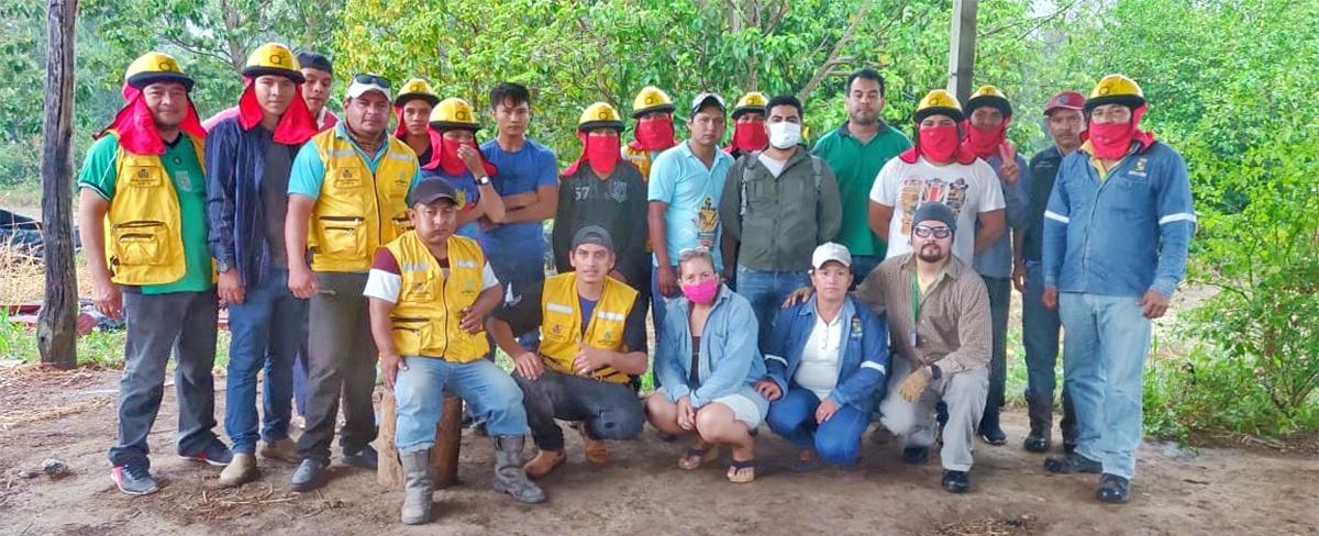 El CIPCA capacita a bomberos comunales y municipales en el municipio El Puente en Santa Cruz
