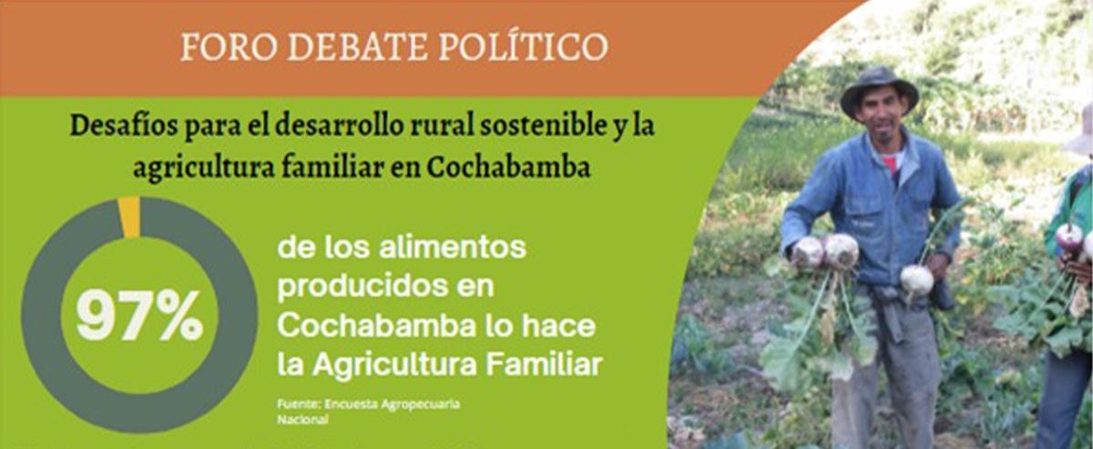 Candidatos presentan propuestas para el desarrollo rural sostenible y la agricultura familiar en Cochabamba