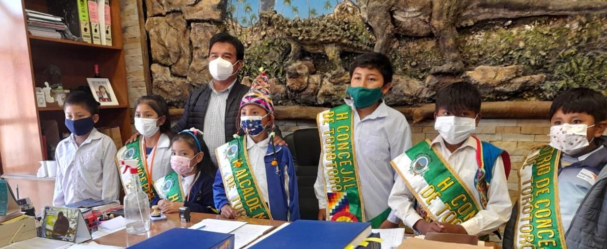 Por el derecho a una buena alimentación niños del municipio de Torotoro agencian la aprobación de una ley de alimentación saludable