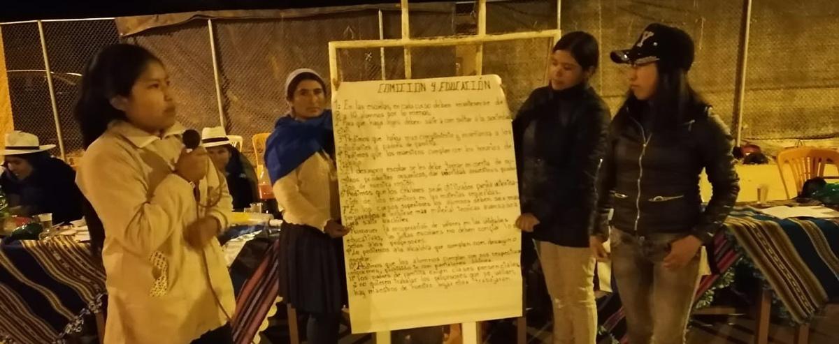 Organización de mujeres provincia Carrasco Valles: el 50% de las funcionarias públicas deben ser mujeres