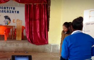 Socialización y sensibilización en derechos a estudiantes de San Pedro de Totora