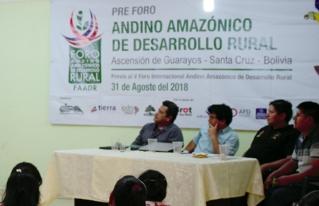 Ascención de Guarayos es sede del 2do Pre Foro Andino Amazónico de Desarrollo Rural