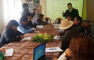Se retoman acciones en favor de la Agricultura Familiar en Bolivia