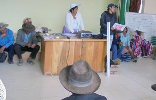 Autoridades de la organización campesina de Anzaldo priorizan la protección y la forestación de fuentes de agua a nivel municipal