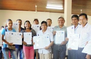 Productores de la Amazonía reciben Certificación de Competencias del Ministerio de Educación como Promotores Agroforestales