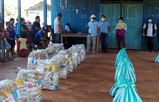 Familias campesinas del Norte Amazónico garantizan su alimentación con su producción y las raciones del gobierno