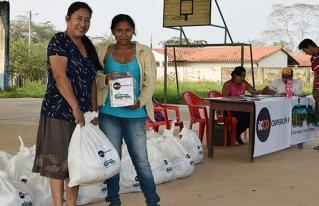 Familias campesinas e indígenas de San Andrés del Beni recibieron ayuda humanitaria por la pandemia del COVID-19