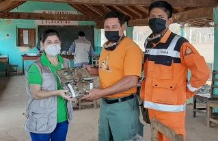 Fundación SAR de San Ignacio De Velasco recibe donación para la lucha contra incendios