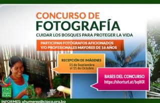 """CONVOCATORIA ABIERTA A CONCURSO DE FOTOGRAFÍA """"CUIDAR LOS BOSQUES PARA PROTEGER LA VIDA"""" #CampañaBosquesParalaVida"""