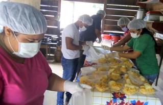 Los piscicultores de Yotaú apoyan a los más afectados en la Pandemia COVID 19 en su comunidad