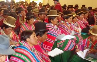 Mujeres originarias campesinas del Altiplano exigen el cumplimiento de sus derechos políticos