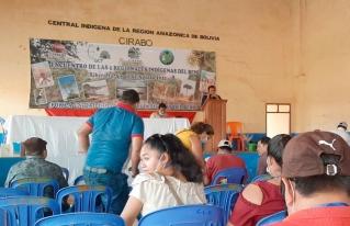 Organizaciones indígenas regionales del Beni plantean su plataforma de demandas en el marco de su agenda orgánica.