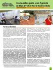 Propuestas para una Agenda de Desarrollo Rural Sostenible